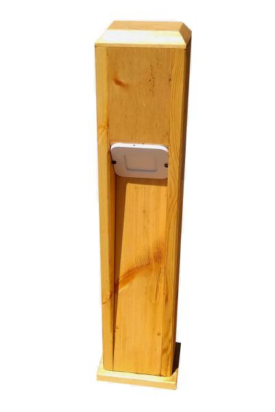 Деревянный фонарь для сада
