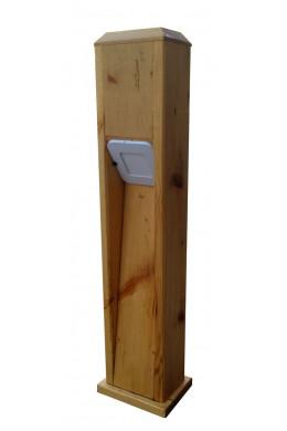 Светильник из дерева садовый