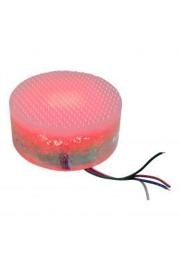 Круглый светильник 10 х 5 красный