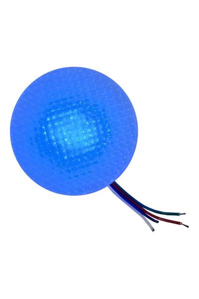 Синий круглый светильник 8 см