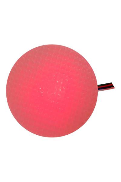 Красный круглый светильник 8 см