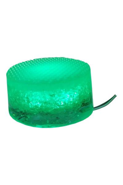 Зеленый круглый светильник 8 см