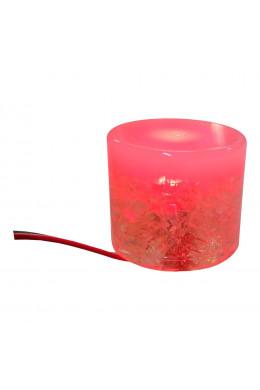 Круглый светильник 5 х 5 красный