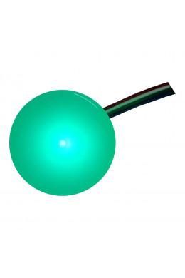 Круглый светильник 5 х 5 зеленый