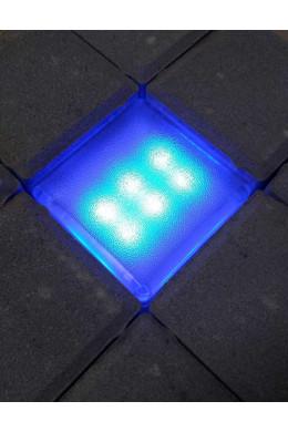 Светящаяся тротуарная плитка 100х100х40 синяя