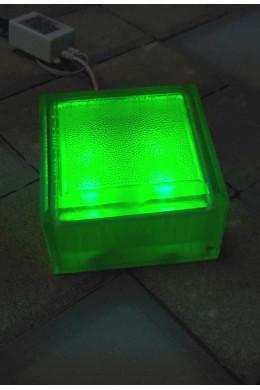 Брусчатка светящаяся 100х100х60  зеленая