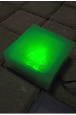 Брусчатка светодиодная 100х100х40 зеленая
