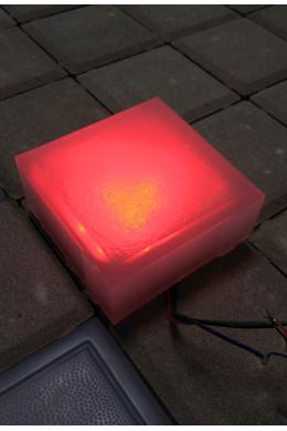 Светящийся LED камень 100х100х40 красный