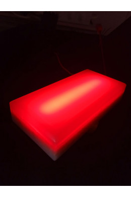 Светодиодная брусчатка красная 100х200х40мм