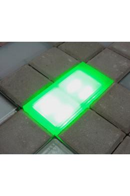 Светящаяся брусчатка зеленая 100х200х40мм