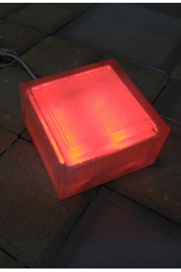 Светильник тротуарный красный 100х100х60