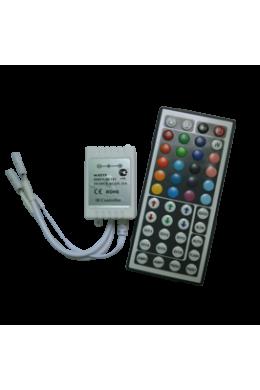 Ecola LED strip RGB IR controller 144W 12V 12A с большим инфракрасным пультом управления (1)