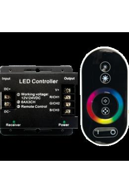 Ecola LED strip RGB RF controller 18A 216W 12V (432W 24V) с радиопультом управления