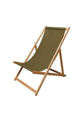 Кресло шезлонг зеленое